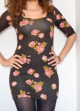 Kaufe meinen Artikel bei #Kleiderkreisel http://www.kleiderkreisel.de/damenmode/kurze-kleider/148664026-wunderschones-braunes-kleid-mit-floralem-muster-in-s