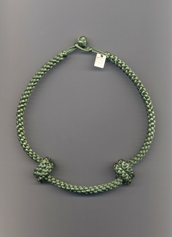 TWO KNOTS  matinee necklace by FMLdesign on Etsy, €50.00