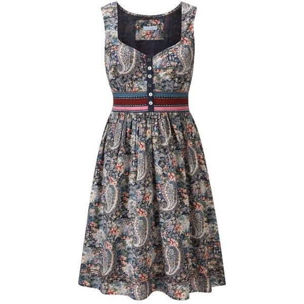 Multi coloured pretty flower tea dress ($39) ❤ liked on Polyvore featuring dresses, women's clothing, multi color dress, tea party dresses, joe brown dresses, multi-color dress and multicolored dress