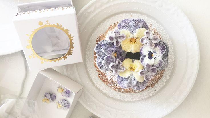 #cake #kuchen #rezept #recipe | Evers & Tochter Manufaktur | kandierte Blüten | candied flowers