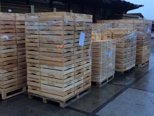 ≥ Zeer gave fruitkisten , veilingkisten , houten kisten ,appel - Kratten en Dozen - Marktplaats.nl