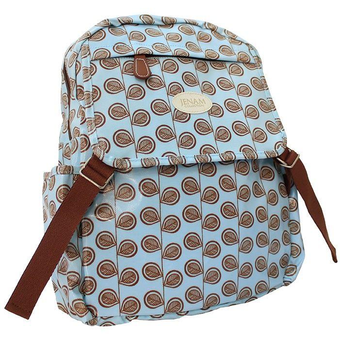 Blou en Bruin Rugsak/ Blue and Brown Backpack