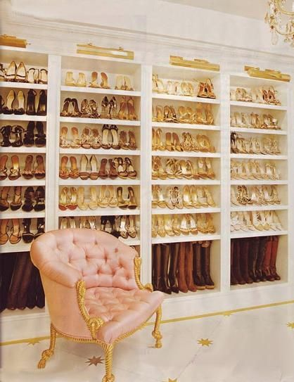 I would love to have a #closet and shoe selection like this one!  Dream closets do come true! Head to www.dressbarn.com...to enter for a chance to win* $1500 to make yours a reality.