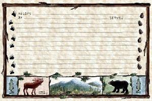Woodlands Recipe Cards. 4x6