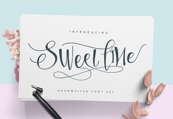 Sweetline Typeface by Dirtyline Studio on @creativemarket