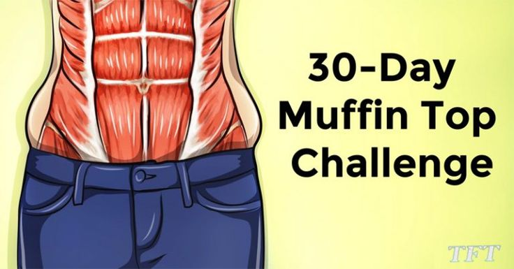 A 30day challenge that can help you get rid of the muffin