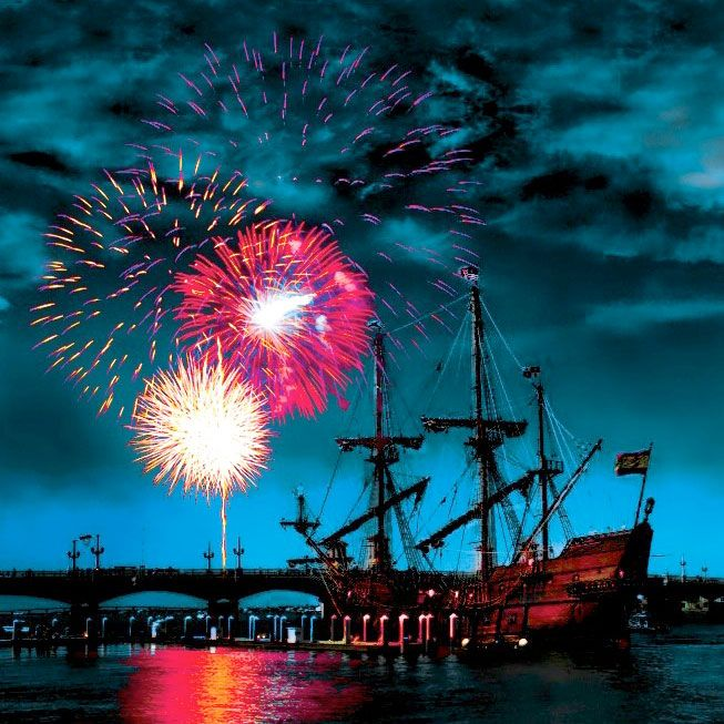 Why it's amazing: You love big fireworks? This historic Florida beach town's got an enormous show of pyrotechnics (20 minutes of more than 5,000 exploding shells), along with one of the best spots to watch them you've ever seen--from the top of a lighthou