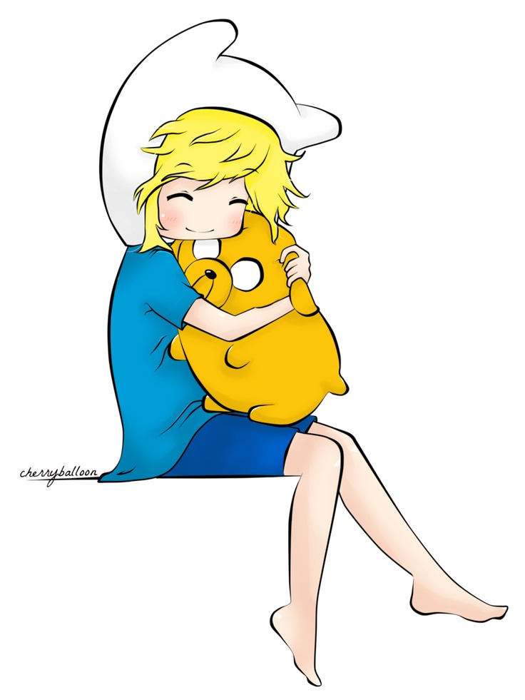Adventure time. finn and jake :)