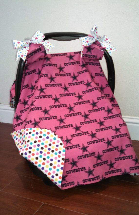 87195b480 Pink Dallas Cowboys Car Seat Canopy | Baby Girl | Baby car seats, Baby girl  gifts, July baby