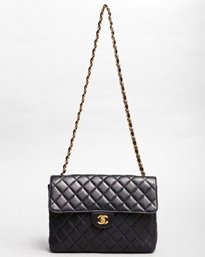 Chanel Navy Blue Jumbo Quilted Flap Bag