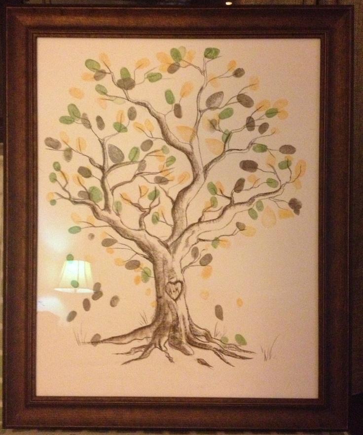 79 best Fingerprint Trees images on Pinterest | Canvas art, Canvas ...