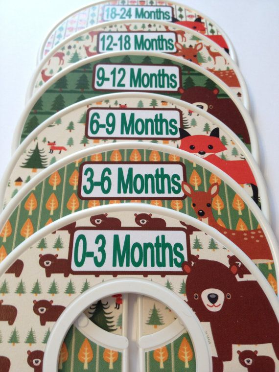 6 Custom Baby Closet Dividers Organizers in Woodland Bears Deer Foxes Fox Nursery Perfect  Baby Shower Gift Stocking Stuffer on Etsy, $18.00
