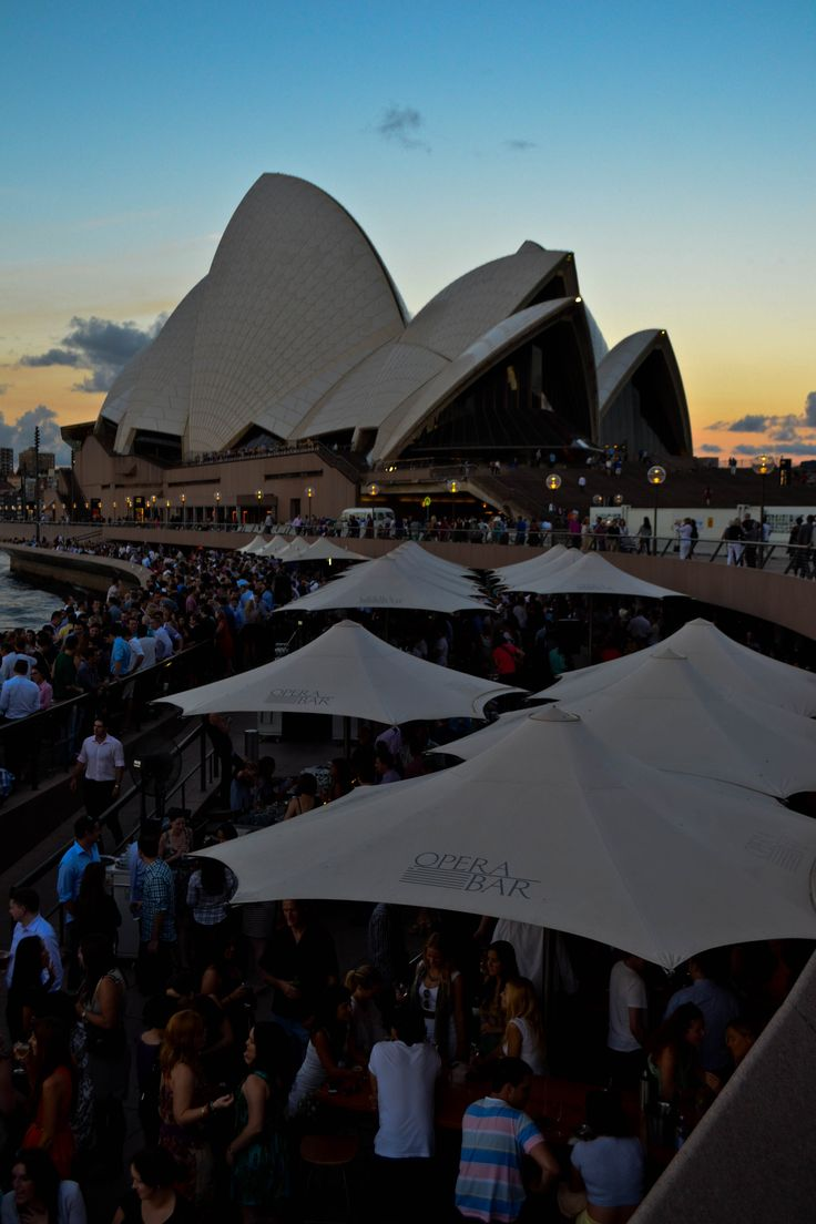 Sunset cocktails at the Opera Bar - Sydney, Australia