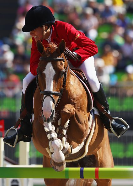 Luciana Diniz of Portugal rides Fit for Fun 13 during the Individual Jumping on…