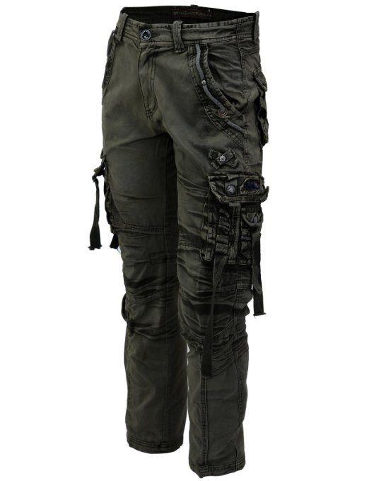 Amazon.com: LNY Apparel Men's multi pocket&strap vintage Combat cargo/military pants (MPT003): Clothing
