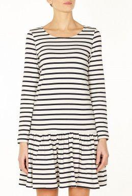 Stripes for your Malvarosa dress pattern: looks like a great idea!  Old Spice Long Sleeve Nautic Peplum Dress by Ganni