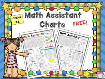 {FREE} Math reference chart ~ grades 3-5. Great for a math journal!
