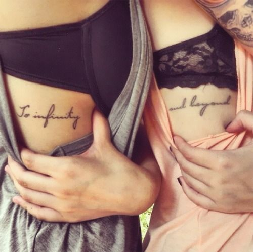best friend tattoo  to infinity, and beyond