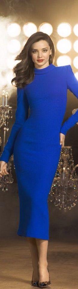 Miranda Kerr in royal blue dress