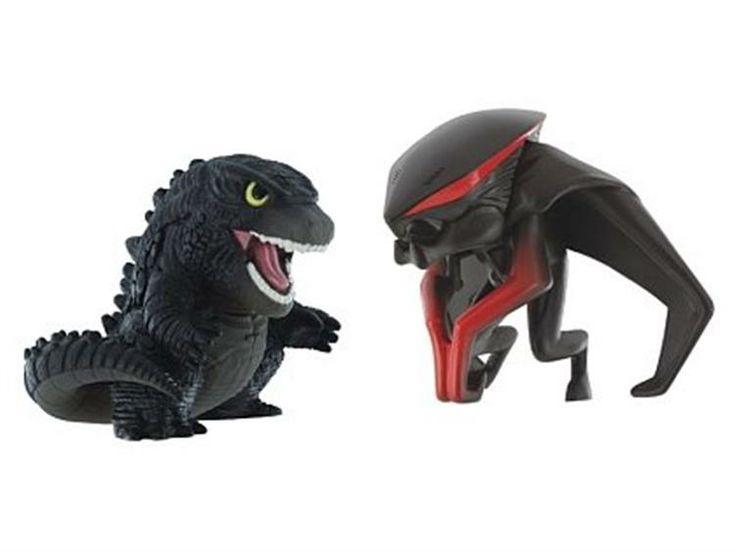 Godzilla Chibi Two Pack - Godzilla + MUTO (Winged) - Godzilla Godzilla 2014 Movie