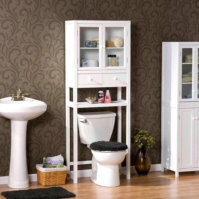 Bathroom Cabinets Brown And Neat Bathroom With
