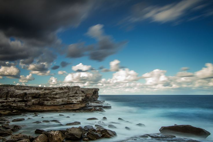 A long exposure at Kamay Botany Bay National Park, Cape Solander near Boat Harbour. This photo was taken as the storm was approaching from behind with the wind at 50km/hr gusting upto 70km/hr