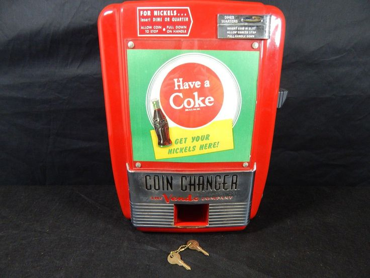 Vendo Coin Changer Coca Cola 40\'s Fully Working Beautiful Condition ...