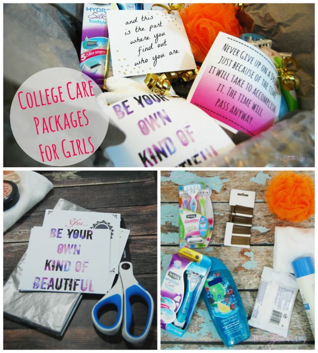 Put together fun College Care Packages for girls! #ad #SchickSummerSelfie   The TipToe Fairy