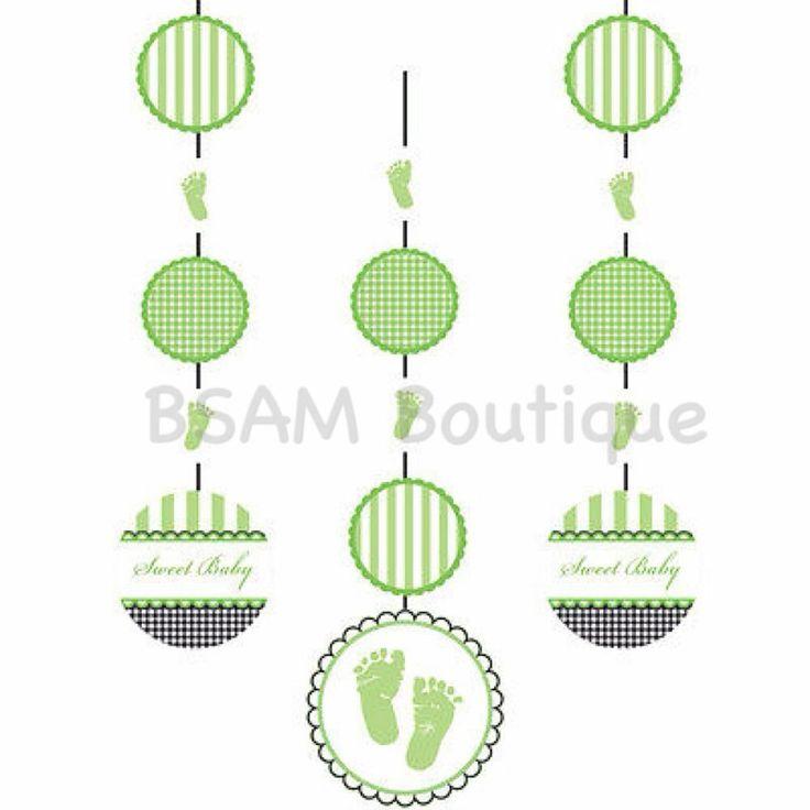 Sweet Baby Feet Hanging Swirls Baby Shower Decoration