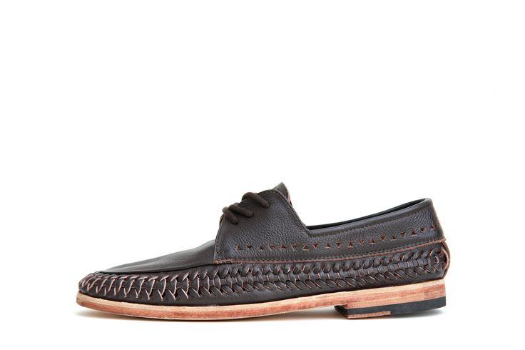 Mr C - Choc - Leather sole