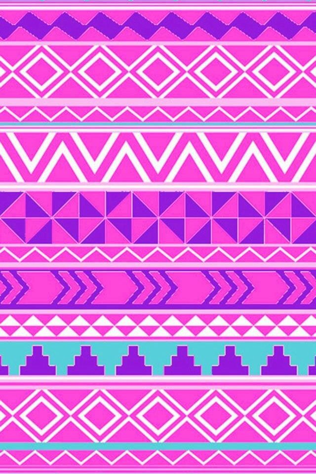 Pink tribal print background