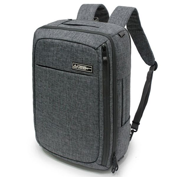 Toppu 3 Way Laptop Bag - S. Korea Backpack for College ,Front zip pockets , Laptop compartment, cushioning on the front of the pack, Water resistant