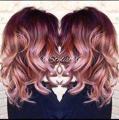 18 Ideas de pelo rojo llamativo Ombre //  #Ideas #llamativo #Ombre #pelo #rojo