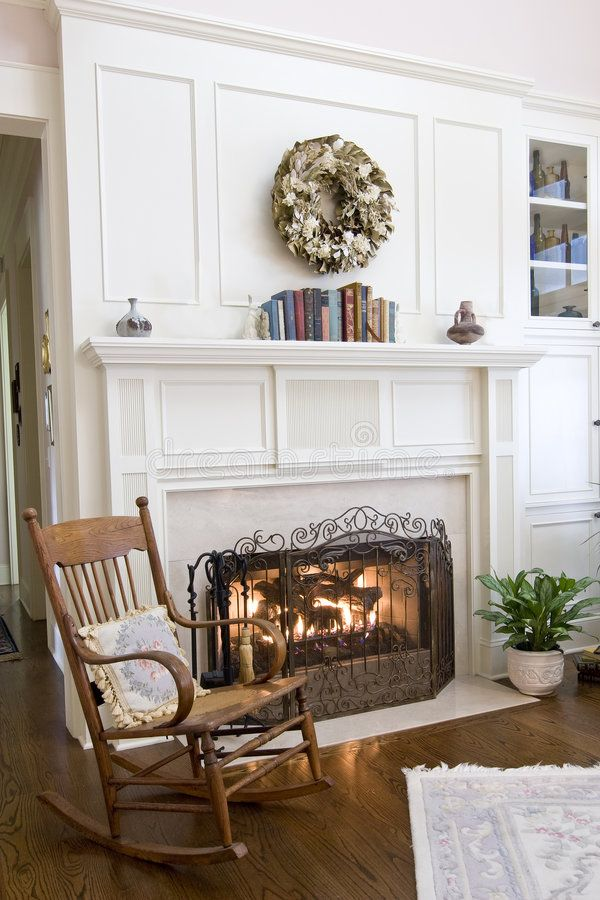 Cozy Fireplace And Rocking Chair Sponsored Fireplace Cozy Chair Rocking Ad Cozy Fireplace Fireplace Mantels House And Home Magazine