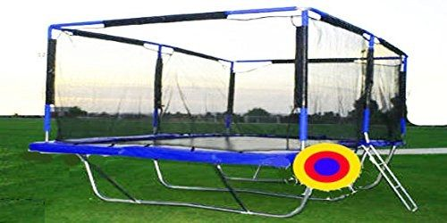 [Features & Benefits] Amponite GC-7185TX Rectangle 10x17 feet Trampoline plus Safety Net Enclosure