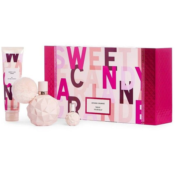 Ari By Ariana Grande Sweet Like Candy Gift Set ($62) ❤ liked on Polyvore featuring beauty products, gift sets & kits, no color and eau de perfume
