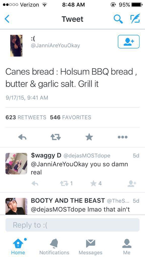 Raising canes bread