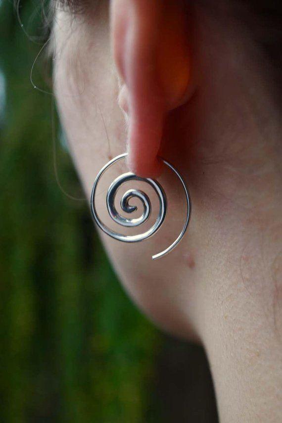 simple spiral earrings