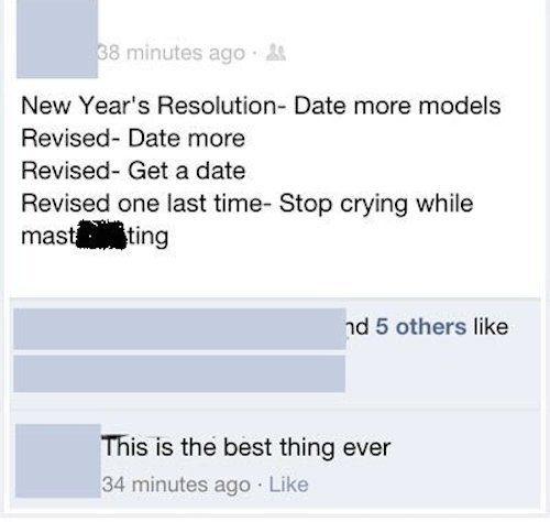 best new years status'