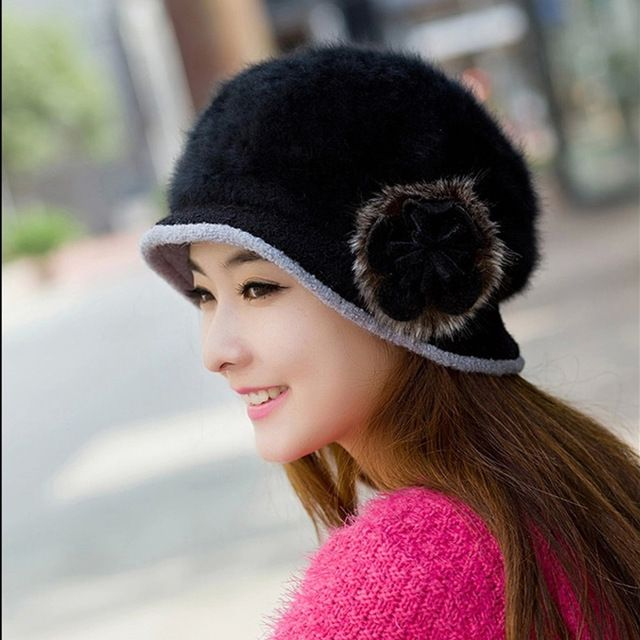 cheap winter warm cute bucket hat for women rabbit fur female 11 .11 promotion 2015 new arrival beret girl cheap hat #other #Bucket_Hats #women_clothing #stylish_Bucket_Hats #style #fashion
