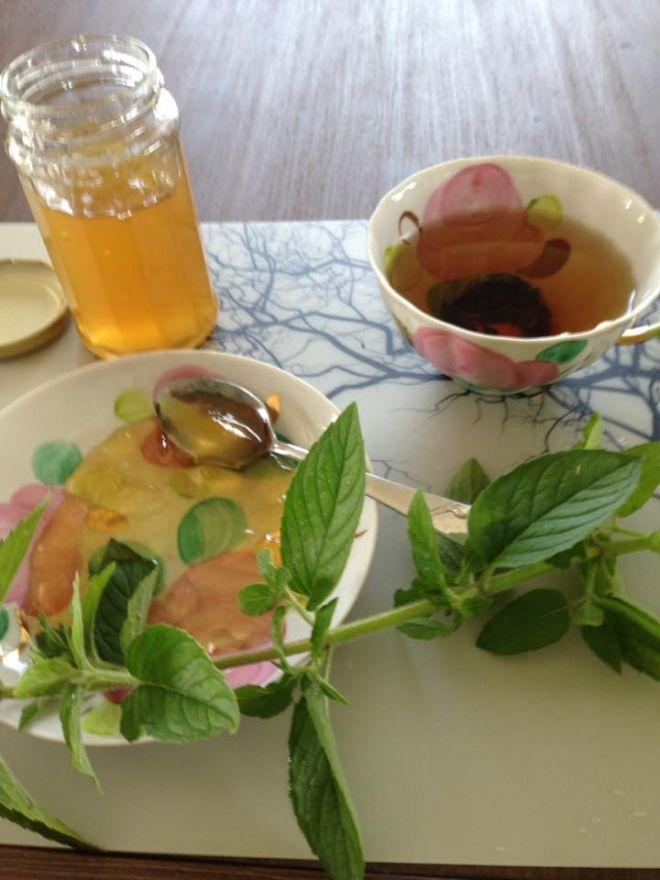 Рецепт джема из мяты. Сварила. Вкуснятина! Запах, цвет, вкус потрясающий. А вот и сам рецепт: 1 литр воды, 100 г листьев мяты, 1 лимон, 1 кг сахарного песка, 1 пакет желфикса. Приготовление: снять цедру с лимона, добавить в 1 л воды вместе с листьями мяты. Как закипит, выключить плиту и оставить томится на 20-30 минут. Отжать сок из лимона. Процедить отвар, добавить сахарный песок, сок лимона и 1 пакетик Желфикса. Варить по инструкции . Можно вместо желфикса взять, сахарны...