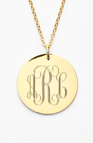 Free shipping and returns on JANE BASCH DESIGNS Personalized Reversible Pendant Necklace at Nordstrom.com. Personalize your own classic or modern monogrammed necklace with this dainty double-sided disc pendant. Hand-cut and hand-polished, this customized treasure is sure to be a delightful gift.