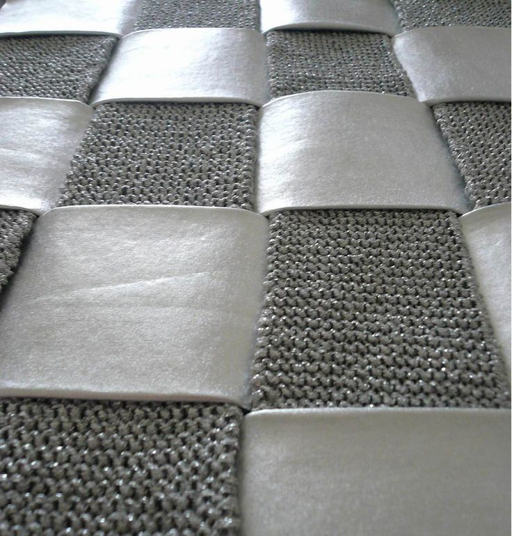 Fabric Weave with alternating leather & knitted strips - fabric design with juxtaposing materials; textile manipulation