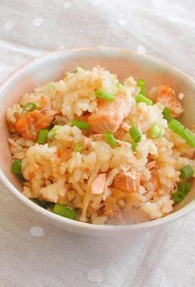 #takikomigohan 鮭の炊き込みご飯