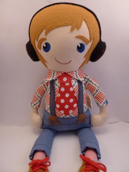 Anton - handmade cloth doll, rag doll