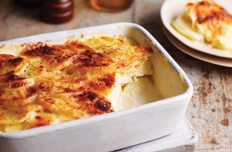 This celeriac & potato dauphinoise from chef Paul Merrett is the perfect dish to serve with roast beef. Find more side dish recipes at Tesco Real Food.
