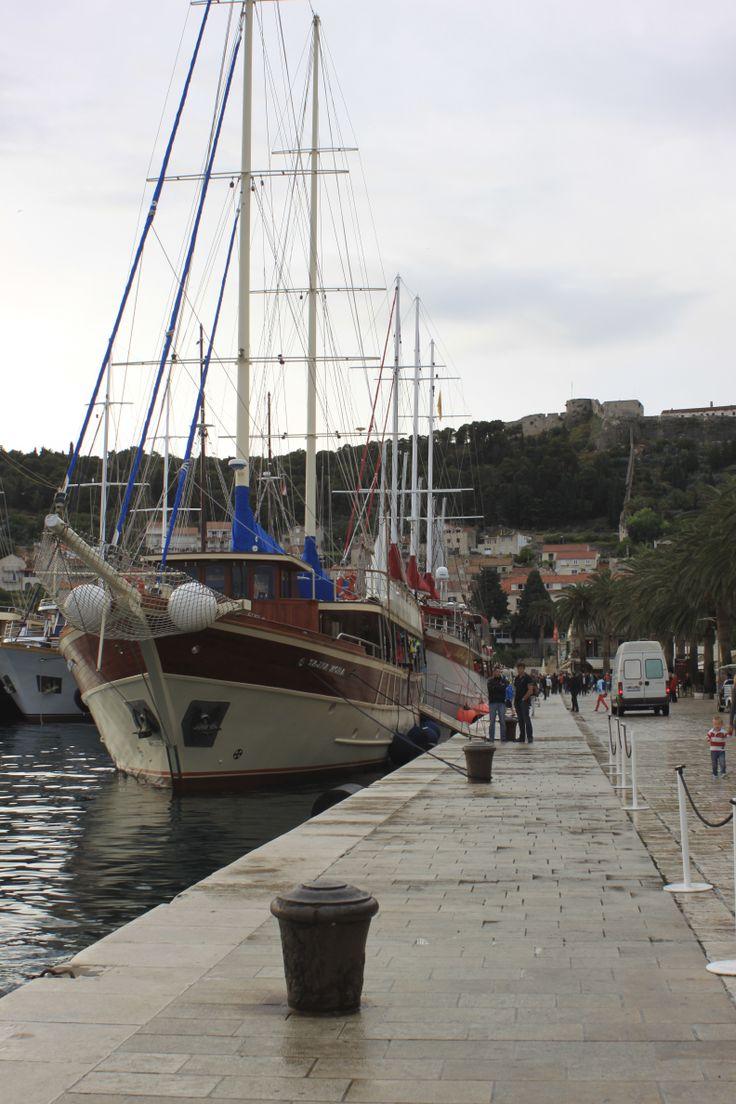 Sailing in Hvar, Croatia. Photo: Ida-Liina Huurtela
