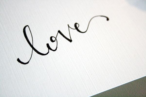 How to faux calligraphy hand lettering design gráfico