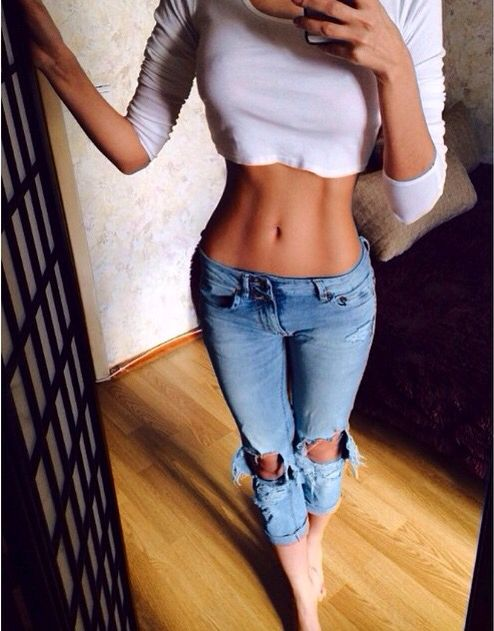 I want the jeans, but I'm not going to lie - I want her abs way more than the jeans!!! ;)