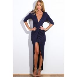 Never Too Late Dress Navy